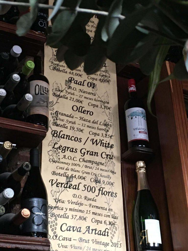 Dónde beber vino en Granada